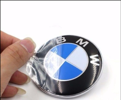 For BMW 74mm Car Auto Emblem Chrome Hood Badge Logo 2 Pins Rear Trunk Sticker