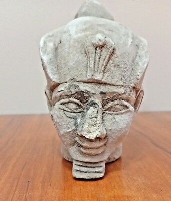 Rare unknown King Head Egyptian Ancient Pharaoh Statue Figurine Sculpture