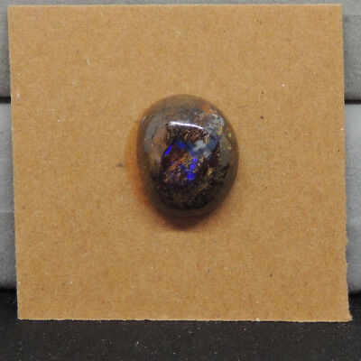 Boulder Opal Cabochon 15x12.5mm with 7mm Dome from Australia (14554)