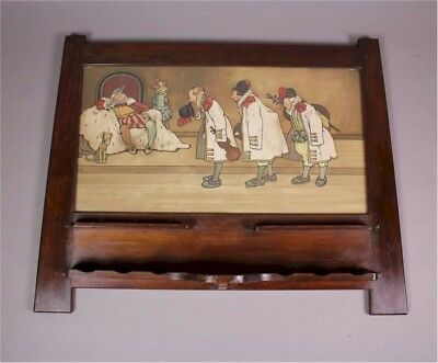 Liberty & Co Arts and Crafts Pipe rack with John Hassall Litho c1900