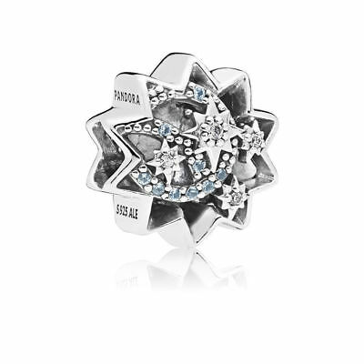 AUTHENTIC PANDORA Silver When You Wish Upon A Star Light Blue 797490NBL