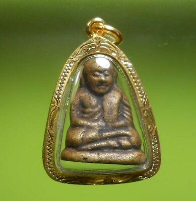 Perfect Statue Lp Ngern Old Thai Buddha Amulet Very Rare !!!