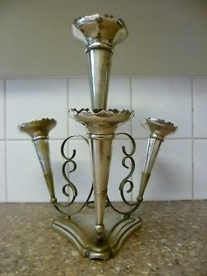 Victorian, Four Trumpet, Silver Plated Epergne. By 'israel Sigmond Greenberg'
