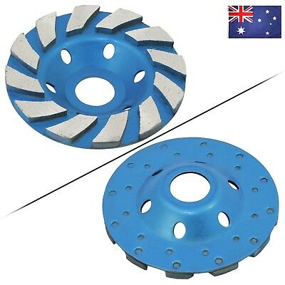 """AU 4"""" 100mm Concrete Turbo Diamond Grinding Cup Wheel Turbo Cup Disc Grinder"""