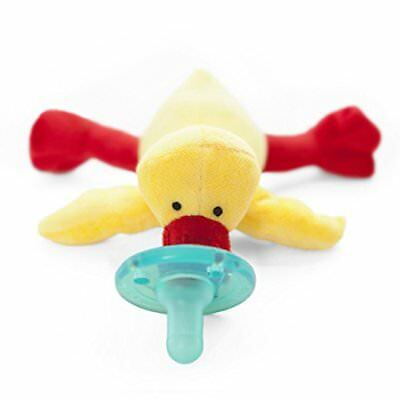 NEW - Wubbanub Infant Pacifier -YELLOW DUCK- FREE SHIPPING (AUTHORIZED RETAILER)