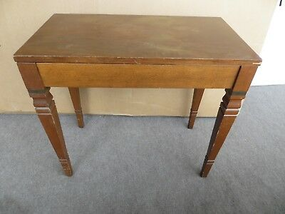 Vintage wooden piano organ vanity bench seat music hinged lid 50's 60's