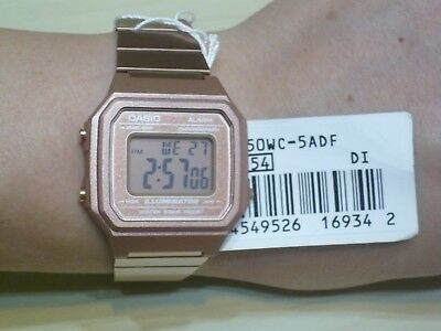 CASIO B650WC-5 Rose Gold Digital Stainless Steel 100% Original Brand New +(Gift)