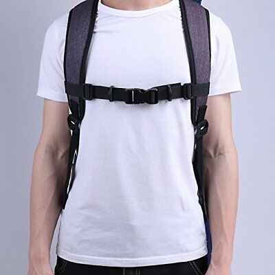 Adjustable Bag Backpack Webbing Sternum Chest Harness Buckle Clip Strap Black US