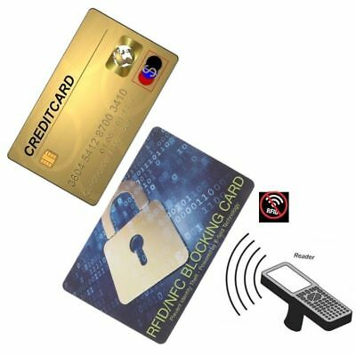 Credit Card Protector RFID Blocking NFC Signal Shield Secure For Passport Purses