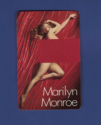 MARILYN MONROE Vintage Nude Playing Card Pin-Up Kelley Studio 1976 QUEEN DIAMOND