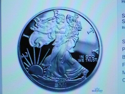 WALKING LIBERTY Design (MintMark SI) - 1oz .999 Pure/Solid Silver Art-Round