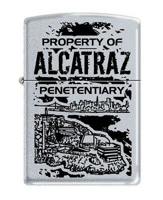 Property Of Alcatraz Zippo Lighter   Free  United Kingdom.   Shipping L@@k  ----
