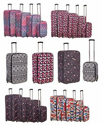 XL Extra Large Suitcase Lightweight Wheeled Travel Trolley Hand Luggage Bag Case