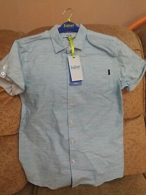 Baker by Ted Baker - Boys Geo Dot SS Shirt.AQUA COLOUR.RRP £20-22.BARGAIN.