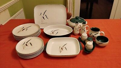 Denby Greenwheat Pottery - various pieces
