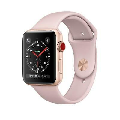 NEW Apple Watch Series 3 38MM 42MM GPS + Cellular Aluminum Pink Silicone Sports