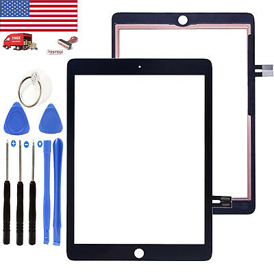 """Black Touch Screen Digitizer Glass Part For iPad 6 6th Gen 9.7"""" 2018 A1893 A1954"""