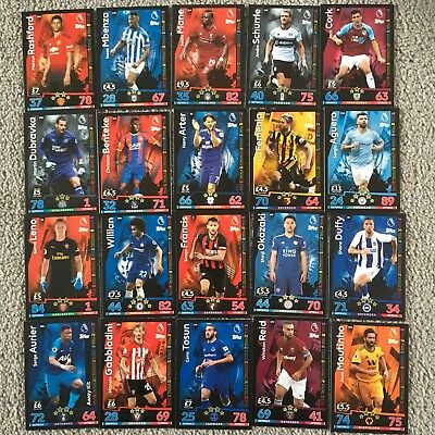 Match Attax Premier League 18/19 Base Cards - Choose Any 15 Cards For £3