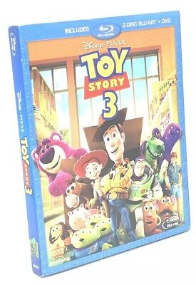 Toy Story 3 (Blu-ray+DVD, 2011, 3-Disc Set) NEW w/ Slipcover  OOP
