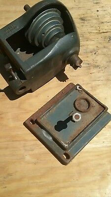 "Headstock Assembly Vintage 9"" Sears Dunlap Wood Lathe #103.0602  1 5/8"" Bed Gap"