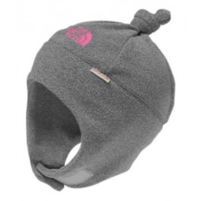 4350ab8c44f The North Face Baby Nugget Beanie Hat Grey Pink Fleece XS 6-24 Months