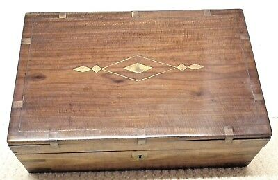 RESTORATION.c.Victorian/Edwardian Solid Mahogany Jewellery/Work Box.FREE POSTAGE