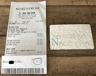 NORDSTROM Gift Card/Certificate for $41.73! Bid now and Save $$$!