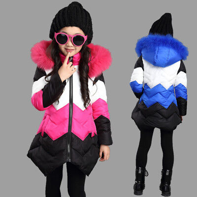 Kids Jacket for Girls Winter Coat Thick Warm Children Outerwear Clothing Fashion
