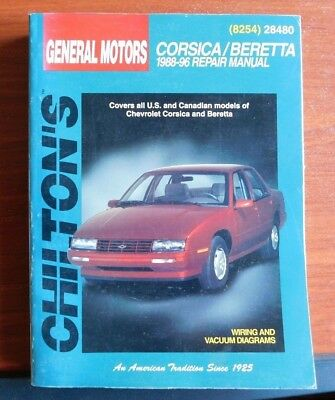 chilton repair manual gm chevrolet corsica/beretta 1988-1996 wiring vac  diagrams