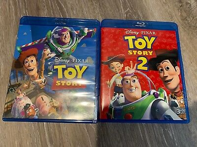 Toy Story 1 and 2 3d only...fast shipping!!! Mint Condition With Disney Points