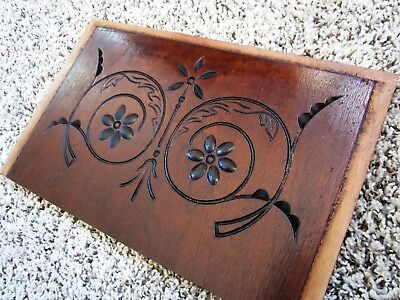 MINT! Eastlake Spoon Carved Pinwheel Panel Victorian Walnut? Furniture Plaque