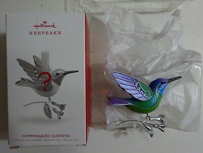 2018 Hallmark Keepsake Hummingbird Surprise BLUE Christmas Tree Ornament NEW