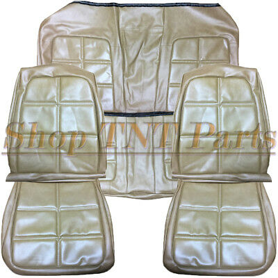 1969 Dodge Charger Seat Covers Saddle Tan Front Buckets Rear Upholstery Skins