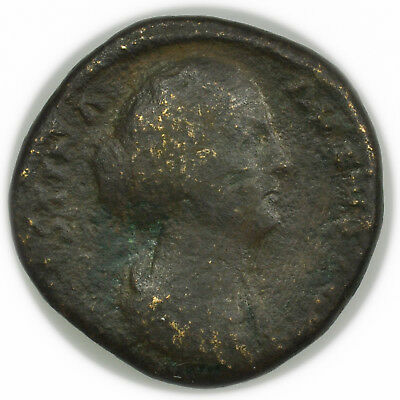 Roman Empire (161-175 AD) Faustina II AE Sestertius, Large Ancient Coin [4039.25
