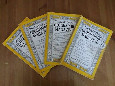 National Geographic Magazine - 4 Editions from 1950s