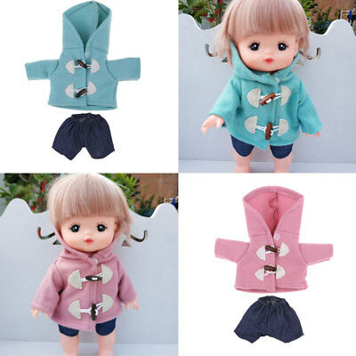 Lovely Girl Doll Clothes Coat Pants Set for Mellchan Baby Dolls Outfits