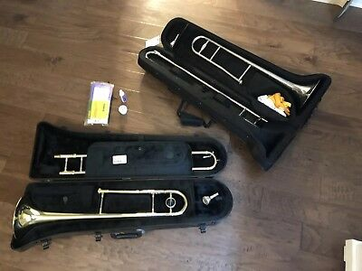 Bach Aristocrat TB600 and Merana Student Trombones w/ Cases and Accessories