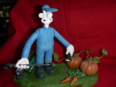 "Todd Mcfarlane ""Wallace and Gromit Curse of the Were-Rabbit"" Wallace Figure Blue"