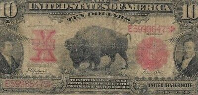"$10 ""1901"" (Bison Note) ""united States Note""  $10 ""1901"" (Bison Note) Rare $10 !"