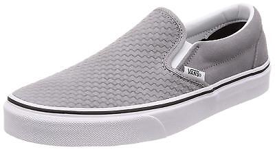 468124ddfb Vans Classic Slip On (Embossed Suede) Frost Grey Skate Shoes Mens Sz 9 New