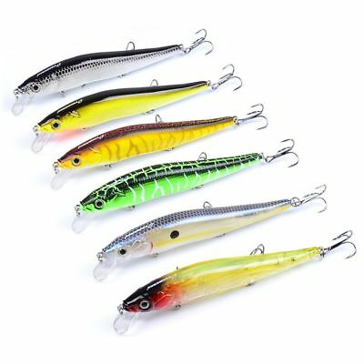 Treble Hook Plastic Tackle Crank Minnow Baits Topwater CrankBaits Fishing Lures