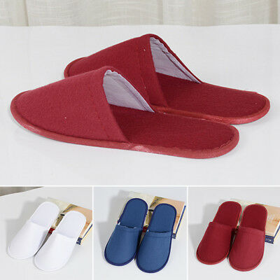 1~10Pairs Lot Disposable Slippers Towelling Hotel Slippers Slippers Guest Unisex