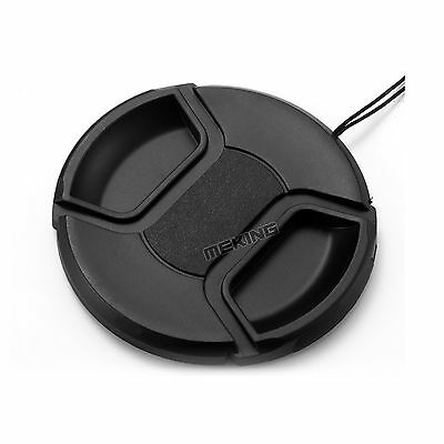 Practical 52mm Camera Snap-on Lens Cap Cover with Cord for Canon Nikon etc Lens