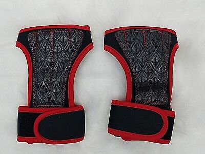 Fitness Gloves Weight Lifting Gym Workout Training Wrist Strap Fingerless Red L