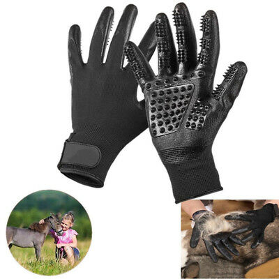 Cleaning Brush Glove Pet Dog Cat Massage Hair Fur Removal Grooming Groomer Bath