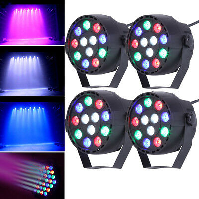4PCS 12 LED UV Stage Lighting PAR Light DMX512 Party Disco DJ Light Clubs RGBW