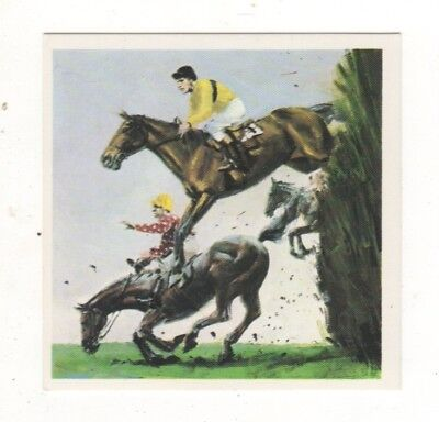 Horses in the Service of Man Trade Card - Steeplechasing