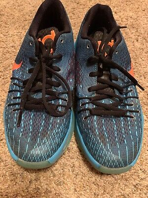 57d7b90445e2 Nike KD 8 Kevin Durant Youth Shoes Blue Lagoon Citrus Size 4.5 Good used