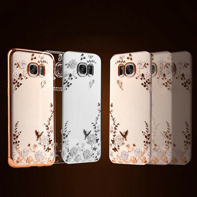 Glitter Silicone Printed Cover Case For Samsung Galaxy A3 A5 A7 S6 S7 S8 S9 NEW