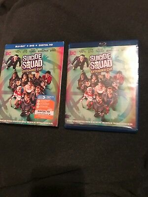 Suicide Squad (2-Disc Blu-ray/DVD Set, Extended Cut) ((MINT CONDITION))